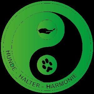 Hunde-Halter-Harmonie Yin-Yang-Logo